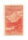 NEW ZEALAND 1898 Pictorial 5/- Orange. London print. Not a cleaned fiscal. - 71376 - MNG