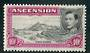ASCENSION 1938 Geo 6th Definitive 10/- Black and Bright Purple. Perf 13. - 71579 - Mint