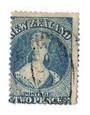NEW ZEALAND 1862 Full Face Queen 2d Dull Deep Blue. Perf 13. no Watermark. Richardson print. Plate 2. Late printing. Re-entry. F