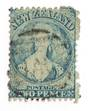 NEW ZEALAND 1862 Full Face Queen 2d Blue. Perf 12½. Very worn plate. - 71712 - Used