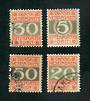 DANISH WEST INDIES 1905 Postage Due. Set of 4. The 5b is mint, other vfu. - 72231 - VFU