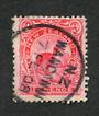 NEW ZEALAND 1898 Pictorial 6d Redrawn Carmine-Pink. Perf 14x13.1/4. Date of issue stated to be Feb 1908. This stamp is clearly p