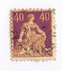 SWITZERLAND 1908 Definitive 40c Orange-Yellow and Purple. Designers name in full. - 73313 - FU
