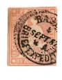 SWITZERLAND 1854 Definitive 15r Rose. Postmark 4/9/52 BRIEFEXPEDIT... eleven days early. - 73318 - Used
