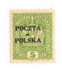 POLAND 1919 Definitive 5b Yellow-Green. - 73766 - LHM