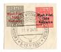 POLAND 1934 Katowice International Stamp Exhibition. Set of 2 on piece with full exhibition postmark. - 73774 - VFU