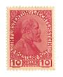 LIECHENSTEIN 1915 Prince John 2nd 10 h Red. Thin unsurfaced paper. - 73776 - Mint