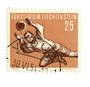LIECHENSTEIN 1954 Football 25 rappen Deep Brown and Yellow-Brown. - 73787 - VFU