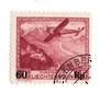 LIECHENSTEIN 1935 Air Surcharge 50r on 1f Claret. - 73789 - VFU
