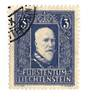 LIECHENSTEIN 1933 Definitive 3f Blue. - 73790 - VFU