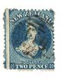 NEW ZEALAND 1862 Full Face Queen 2d Deep Royal Blue. Perf 12½. Watermark Large Star. Identified by vendor as SG 114. - 74006 - U