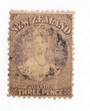 NEW ZEALAND 1862 Full Face Queen 3D Brown-Lilac. This stamp has been treated probably to remove a stain. The ultimate space-fill