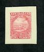 NEW ZEALAND 1898 Pictorial 1d Red Imperforate Proof. - 74032 - Proof