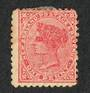 NEW ZEALAND 1882 Victoria 1st Second Sideface 1d Red Perf 10. Scratches on face. Minor variety. - 74033 - Mint