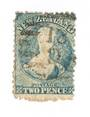 NEW ZEALAND 1862 Full Face Queen 2d Blue. Perf 12½. Row 20/3 variety. - 74037 - Used
