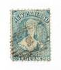 NEW ZEALAND 1862 Full Face Queen 2d Blue. Perf 12½. Row 18/5 variety. - 74038 - Used