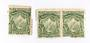 NEW ZEALAND 1898 Pictorial ½d Mt Cook Green Mixed Perfs. Pair and single that has become separarted. Light toning. - 74039 - Min