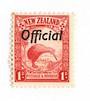 NEW ZEALAND 1935 Pictorial Official 1d Red. The rare Perf 13.5 x 14.. - 74055 - UHM