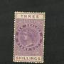 NEW ZEALAND 1882 Victoria 1st Long Type Postal Fiscal 3/- Purple. - 74064 - Mint