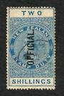 NEW ZEALAND 1882 Victoria 1st Long Type Postal Fiscal Official 2/- Blue. Offycial Flaw. - 74069 - VFU