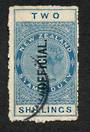 NEW ZEALAND 1882 Victoria 1st Long Type Postal Fiscal Official 2/- Blue. Offycial Flaw. - 74076 - VFU