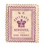 NEW ZEALAND 1890 Railways Newspapers 1d Violet. Has adhesion on the rear and some original gum. - 74179 - Fiscal
