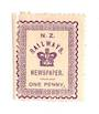 NEW ZEALAND 1890 Railways Newspapers 1d Violet. Hinge remains. - 74185 - Mint