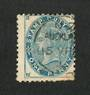 NEW ZEALAND 1882 Victoria 1st Postal Fiscal 1d Blue. Fine A class cancel. Postally used
