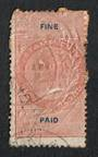 NEW ZEALAND 1868 Long Type Fiscal Fine Paid No value Brown and Blue. Perforated. Die 1.Nice example. - 74614 - Fiscal