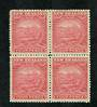 NEW ZEALAND 1898 Pictorial 4d Rose. Block of 4. Two never hinged. - 74849 - UHM