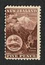 NEW ZEALAND 1898 Pictorial 5d Otira Gorge Chocolate. First Local Issue on Unwatermarked Paper. Perf 11. CP E13b(1). - 74868 - Mi