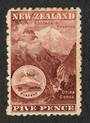 NEW ZEALAND 1898 Pictorial 5d Otira Gorge Red-Brown. First Local Issue on Unwatermarked Paper. Perf 11. CP E13b(2). - 74869 - Mi