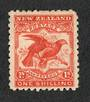 NEW ZEALAND 1898 Pictorial 1/- Dull Orange-Red. First Local Issue on Unwatermarked Paper. Perf 11. CP E18b(4). Hinge remains. -