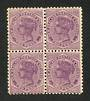 NEW ZEALAND 1882  Victoria 1st Second Sideface 2d Purple. Provisional issue on thick Pirie paper. Block of 4. Three never hinged