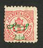 NEW ZEALAND Unlisted Cinderella. J Albert & Son Royalty Stamp from a record label. Overprinted 2.1/4d  with printed signature. -