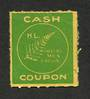 NEW ZEALAND 1940 Hay Coupon Green on yellow. - 74971 - Cinderellas