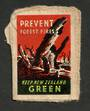 NEW ZEALAND 1945 Prevent Forest Fires. Keep New Zealand Green. On piece and tied. Untidy. - 74972 - Cinderellas