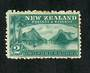NEW ZEALAND 1898 Pictorial 2/- Blue-Green on Laid Paper. Hinge remains. - 75016 - Mint
