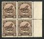 NEW ZEALAND 1935 Pictorial Official 8d Tuatara. Perf 12½. Block of 4. - 75031 - UHM