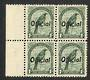 NEW ZEALAND 1935 Pictorial Official 1/- Tui. Perf 12½. Block of 4. - 75032 - UHM