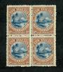 NEW ZEALAND 1898 Pictorial 1d Lake Taupo. London Print. Block of 4. Very fine never hinged. - 75197 - UHM