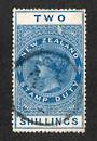 NEW ZEALAND 1882 Long Type Postal Fiscal 2/- Blue Postally Used. De La Rue paper issued in 1913. - 75253 - Used