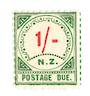 NEW ZEALAND 1899 Postage Due 1/- Red and Green. - 75284 - UHM