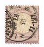 GERMANY 1872 Thaler Currency Large Shield Definitive 1/4 gr Purple. Heavy postmark. - 75466 - Used