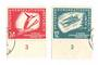 EAST GERMANY 1951 Second Winter Sports Meeting. Set of 2. - 75471 - VFU