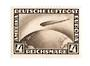 GERMANY 1928 Graf Zeppelin 4pf Sepia. Hinge remains. - 75473 - Mint