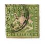 WURTTEMBERG 1859 Definitive 6kr Green. Without silk threads. Repaired but presentable. - 75505 - Used