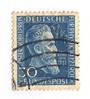 WEST GERMANY 1951 Humanitarian Relief Fund 30pf + 10pf Blue. Commercially used. - 75509 - Used