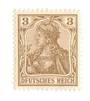 GERMANY 1902 Definitive 3pf Brown with spelling error