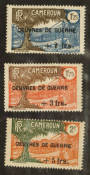 CAMEROUN 1940 War Relief Fund Surcharges. Set of 3. - 76475 - UHM